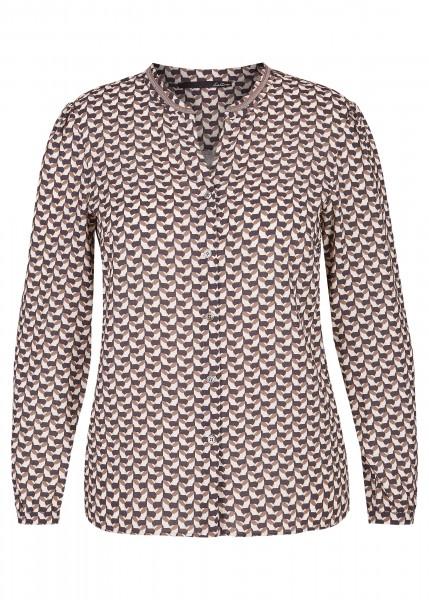 LeComte Damen Bluse mit Muster in Walnuss