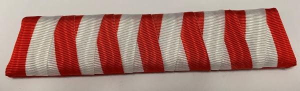 Ordensspange rot-weiß für 5 Orden