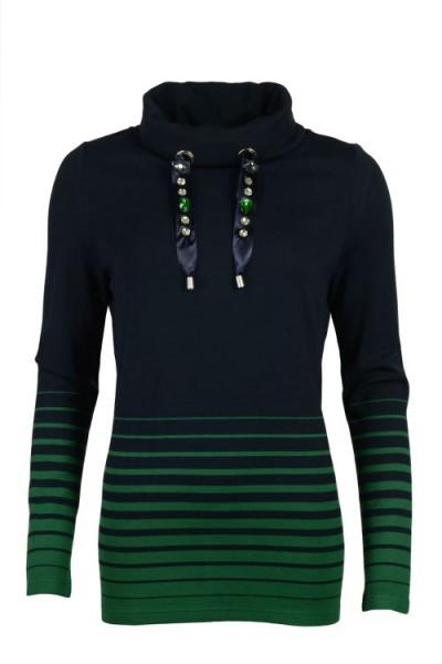 Damen Hajo Softsweatpullover - marine/grün