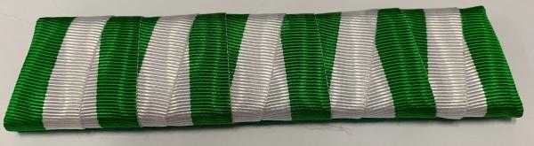 Ordensspange grün-weiß für 5 Orden