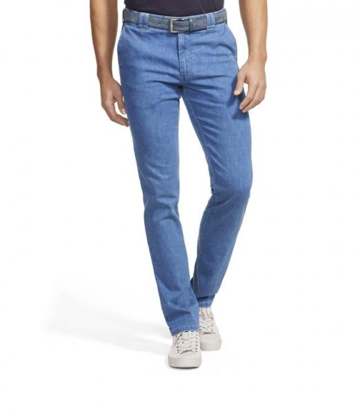 "Meyer Herren Hose ""Oslo"" Coolmax Denis Travel Chino - light blue"