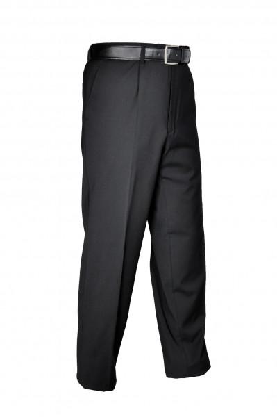 """Herrenhose """"Uniform"""" mit Bundfalten schwarz"""