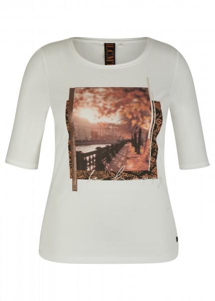 LeComte Damen Shirt mit front Print - natur