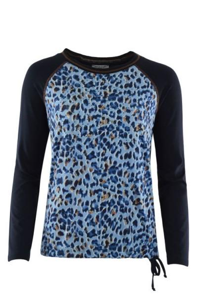 Hajo Damen Shirt langarm - bleu