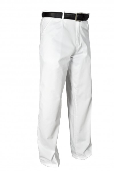 """Herrenhose """"Uniform"""" mit Bundfalten weiß"""