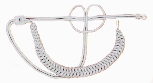 Fangschnur aus 6 mm starker Rundschnur - silberfarbig - große Ausführung