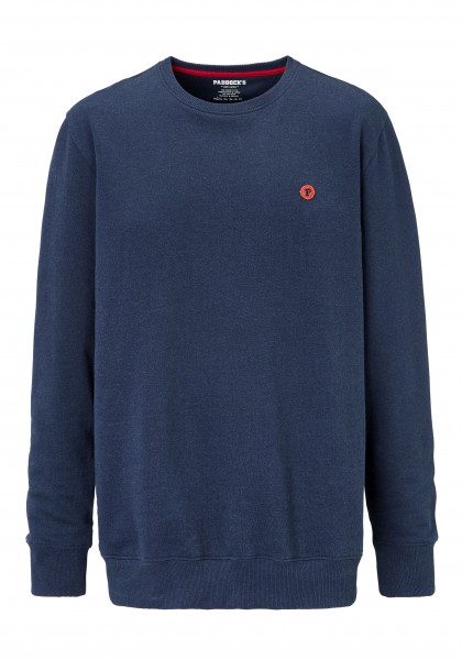 Paddock´s Round neck sweat shirt with small badge - dress blues