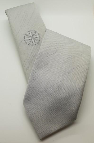 "Krawatte ""Bund"" silberfarbig mit Pfeil-Kreuz Emblem"