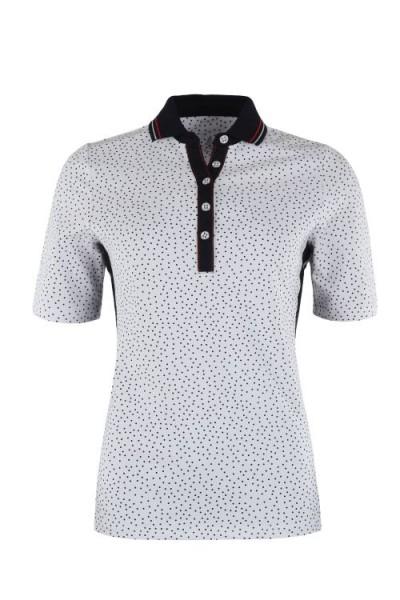 Hajo Damen Polo Shirt weiß/marine