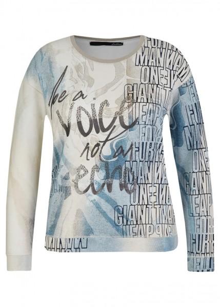 LeComte Damen Shirt mit Front Print - Perlmutt
