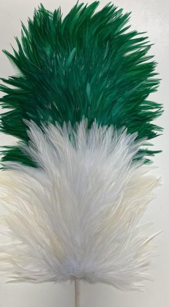 Reiterplatte vorne weiß - hinten grün