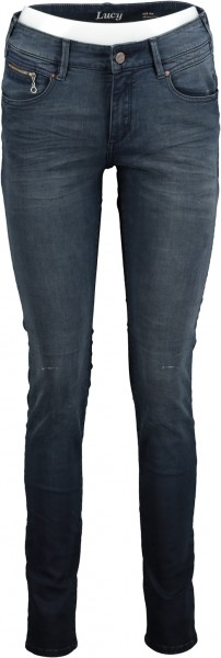 "Damen Jeans ""LUCY"" VINTAGE DENIM - medium blue + black tinting"