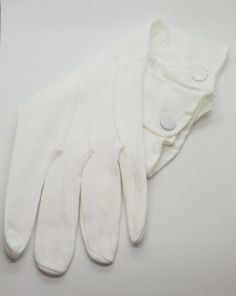 Baumwollhandschuhe mit Drucker - weiß