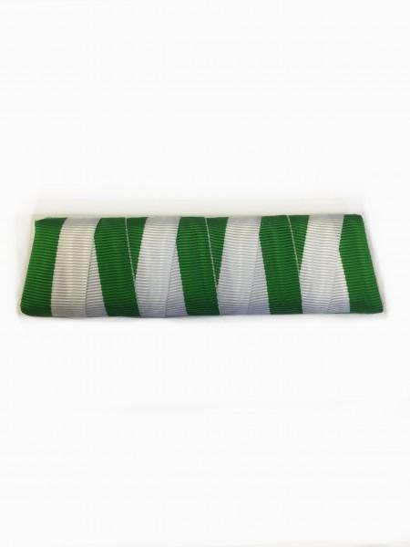 Ordensspange grün-weiß für 4 Orden