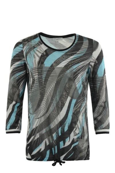 Hajo Damen Shirt, Leichtsweat 3/4 Arm - khaki
