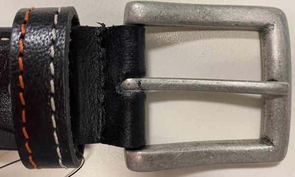 Paddocks Gürtel schwarz mit Stickerei