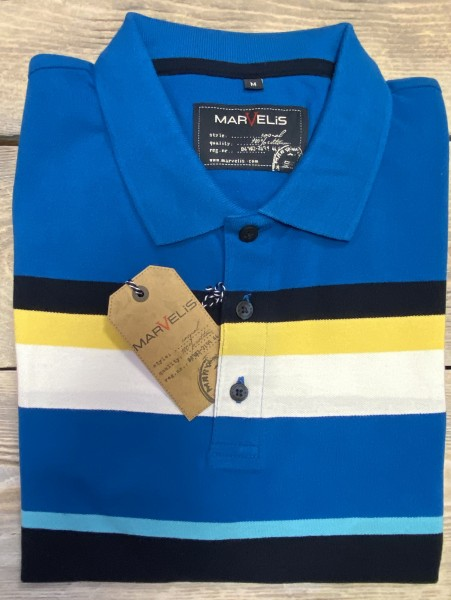 Marvelis Herren Polo Shirt - blau