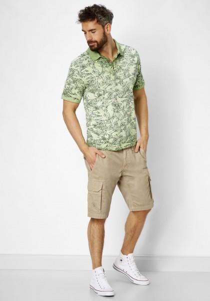 Paddock´s Polo Shirt, kurz Arm mit Druck - pastel avocado