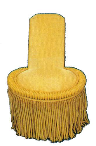 Epauletten mit extra langer Zunge, mit Boullonfransen - goldfarbig
