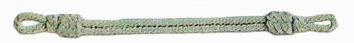 Mützenkordel aluminiumfarbig aus Gimpenkordel
