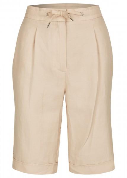 LeComte Damen kurze Hose in UNI-DESIGN mit Beinkrempeln in Leinen