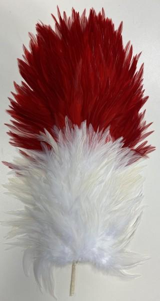 Reiterplatte vorne weiß - hinten rot