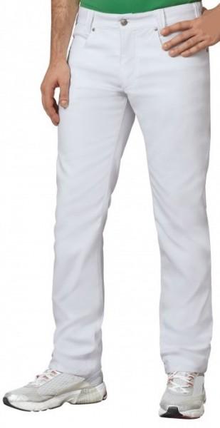 Herren in weiß aus Mischgewebe mit Stretchkomfort