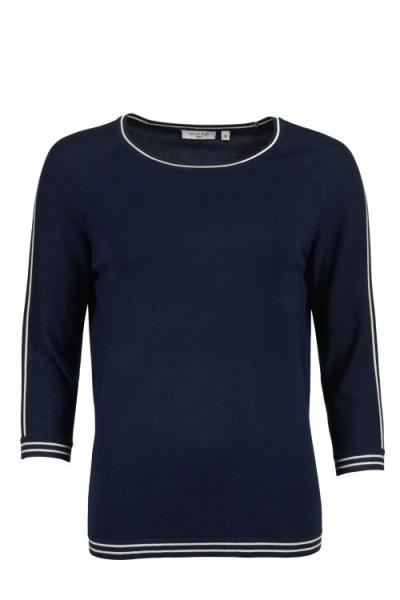 Hajo Damen Feinstrick Pullover marine