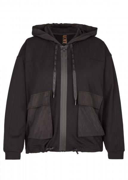 LeComte Jacke mit Cargo-Taschen und Tunnelzug in schwarz