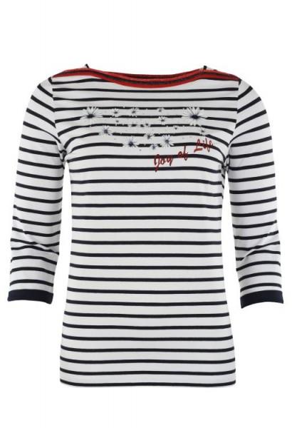 Hajo Damen Shirt Feinjersey marine