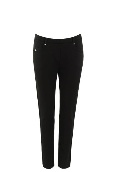 Hajo Damen Schlupfhose Five-Pocket - schwarz