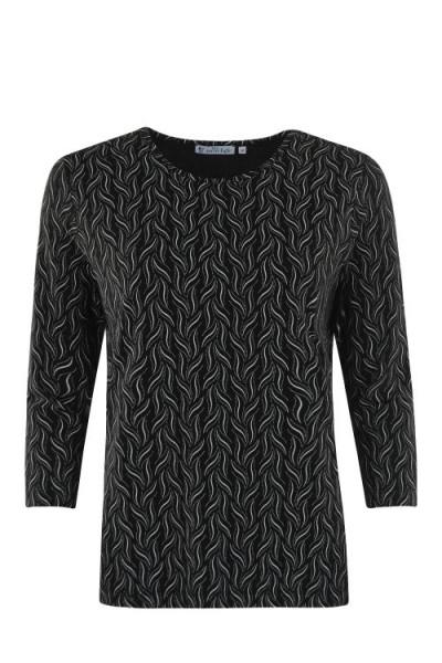 Hajo Damen Shirt Alloverprint - original