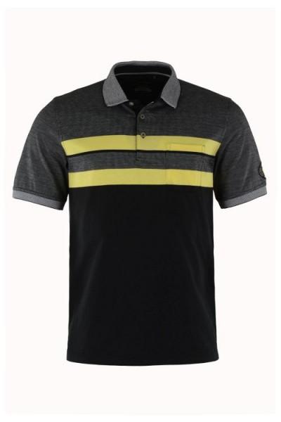 Hajo Herren Polo Shirt - schwarz
