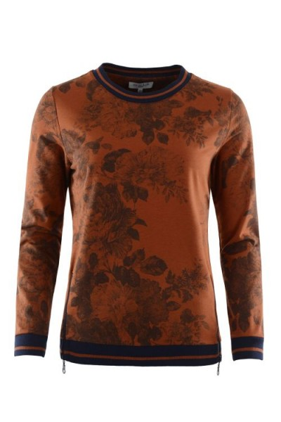 Hajo Damen Sweatshirt 1/1 Arm - cognac
