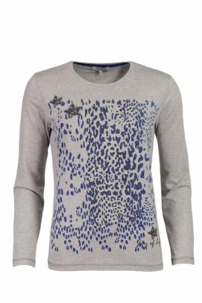 Hajo Damen T-Shirt, 1/1 Arm, Rundhals - graumelange