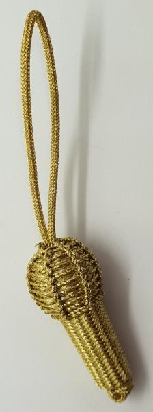 Eichel groß mit Schlaufe - Goldfarbig