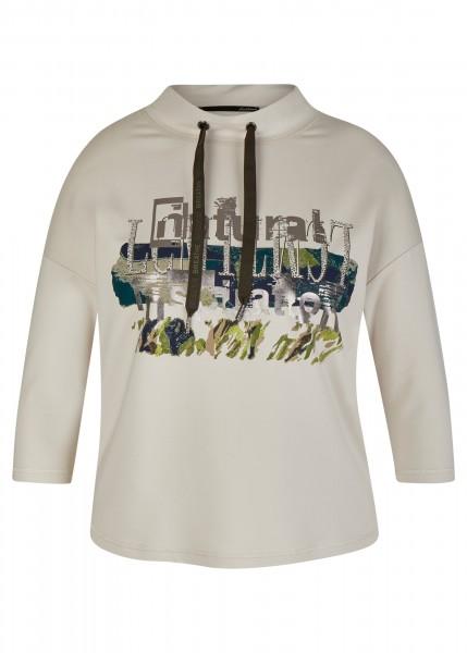 LeComte Damen Sweatshirt mit Stehkragen - Elfenbein