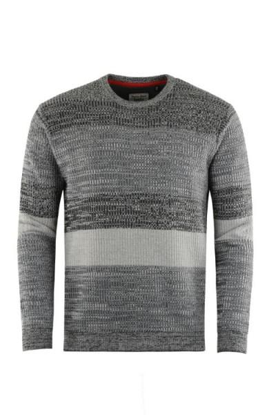 Hajo Herren Pullover - graumelange