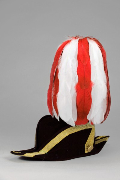 Federbuschen ca. 30 cm hoch rot-weiß mixed