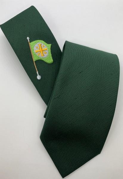 Schützenkrawatte grün mit Fahne
