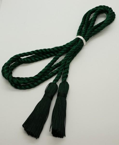 Hutschnur dunkelgrün aus 4 m starker Kordel mit Cordonettquasten in dkl. grün