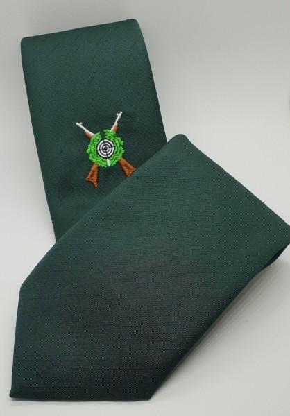 Schützenkrawatte mit gekreuzten Gewehren - Grün