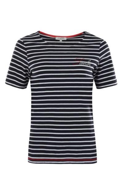 Hajo Damen Shirt - marine/weiß