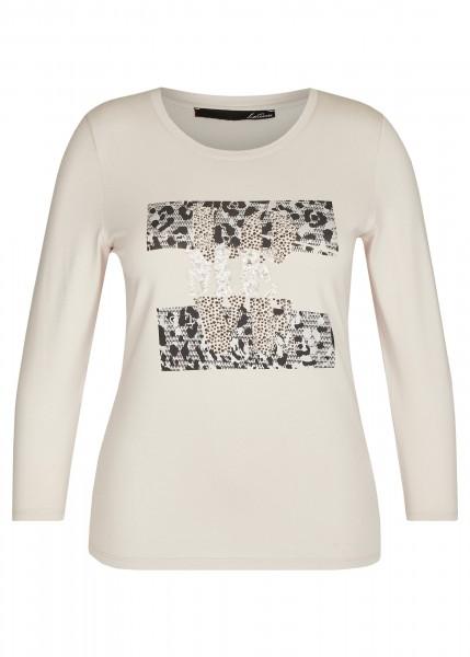 LeComte Shirt mit Statement und Glitzerdetails in Perlmutt