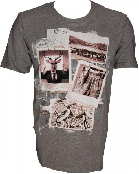 Marvelis T-Shirt mit Print - Grau