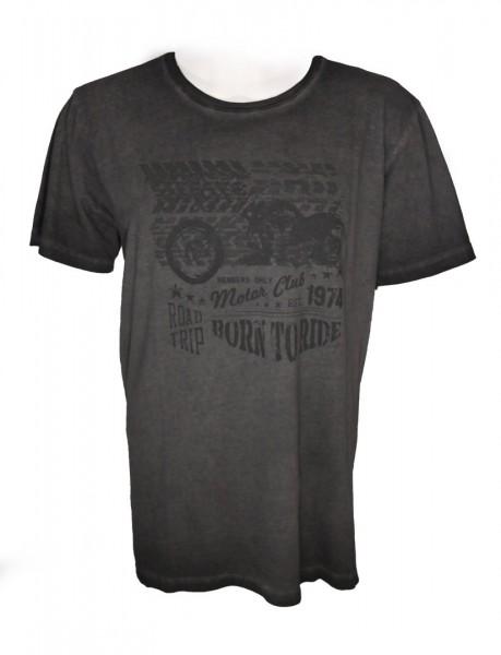 Paddock´s T-Shirt mit Print - Cold Grey