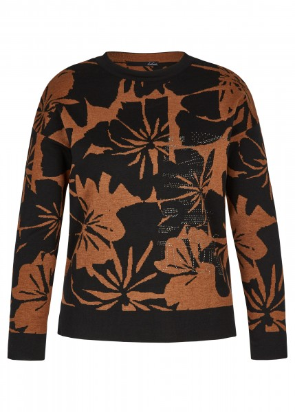 LeComte Damen Pullover Muster in schwarz