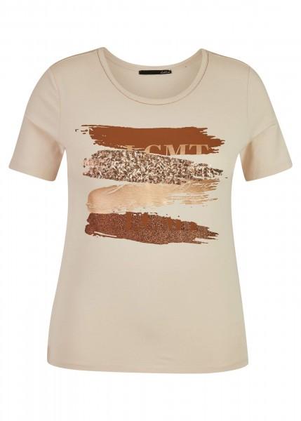 LeComte T-Shirt Rundhals - Marzipan