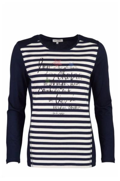 Damen Shirt 1/1 Frontprint - marine
