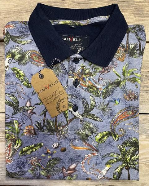 Marvelis Herren Polo Shirt - blau